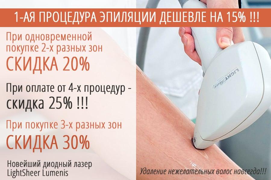 Скидочные цены на лазерную эпиляцию ног